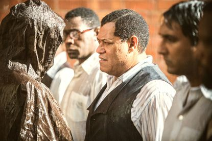 """Laurence Fishburne as Nelson Mandela in the BET miniseries """"Madiba."""""""