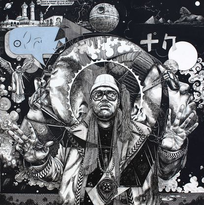 """""""22nd Century Sun Ra"""" by Ariston Jacks is one of the pieces that will be on display at Carroll Community College between Sept. 26 and Nov. 2"""