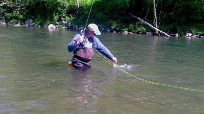Steve Merkel caught shad every spring in Deer Creek, Harford County, and helped other fly anglers do the same.