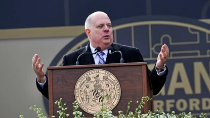 Maryland Gov. Larry Hogan has not endorsed the equitable education funding recommended by the Kirwan Commission. File.