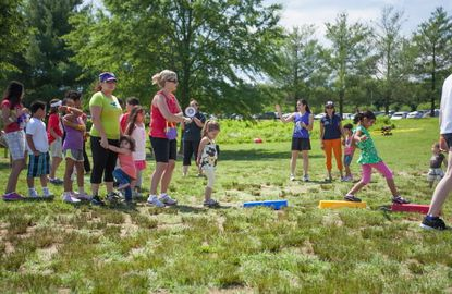 Howard County families participate in a wellness event.