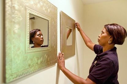 """Cathy Hobbs, a home staging professional and current contestant on HGTV's """"Design Star,"""" taught a home staging certification course recently using the interior of a house for sale in Columbia."""