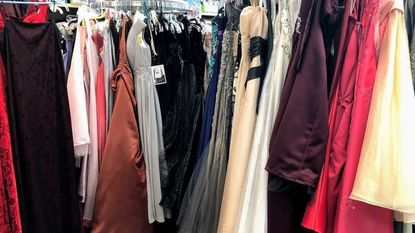 Baltimore County Public Library's Prom Closet is shown in the Owings Mills Branch Library.