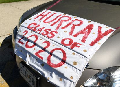 Graduating Broadneck High School seniors were treated to a parade of well-wishers, who drove by their homes to show their support.