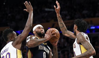 Former New Orleans center DeMarcus Cousins (0) has joined Golden State while former Lakers forward Julius Randle is in Houston. Brandon Ingram, right, is still part of the Lakers' young corps that will team with LeBron James.