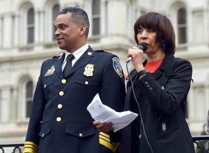 Baltimore Mayor Catherine Pugh says Police Commissioner Darryl De Sousa is working on establishing his own independent review of the Gun Trace Task Force case so a state commission is unnecessary.