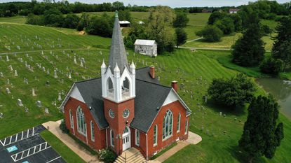 Emmanuel Baust United Church of Christ, 2950 Old Taneytown Road, is seen from the sky. Pentecost Sunday will be celebrated with a guest speaker at Baust on Sunday, June 9.