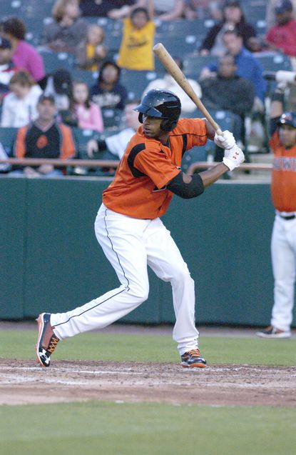 Henry Urrutia has been impressive in his first action for Double-A Bowie, including hitting a homer in his first home at-bat on Friday.