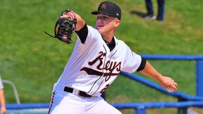 Left-hander DL Hall, the Orioles' 2017 first-round draft pick, is pitching for High-A Frederick this season.