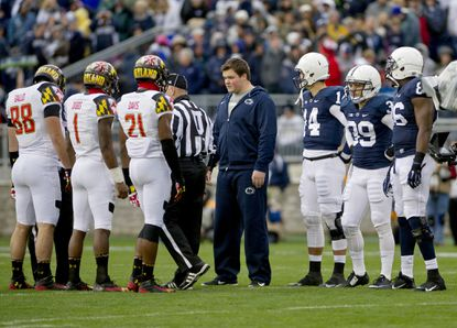 Maryland's captains did not shake hands with Penn State's before the pregame coin toss.