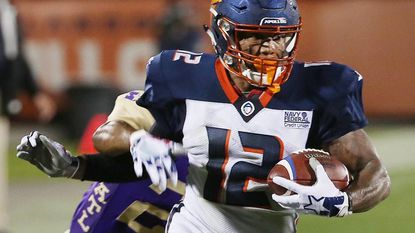 Orlando Apollos wide receiver Charles Johnson is thriving in the new league he initially rejected.