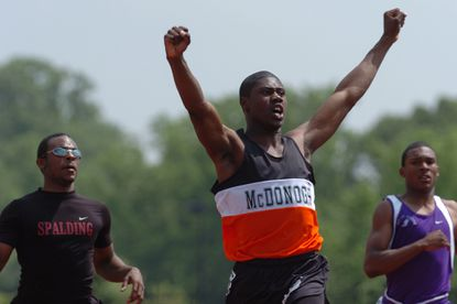 Pittsburgh Steelers wide receiver Darrius Heyward-Bey, a former track and football star at McDonogh, in 2004.