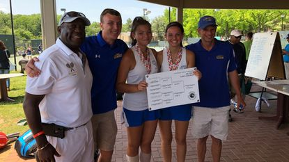 Tennis: Emily Brecker, Noelle Htwar give Liberty first girls doubles state title