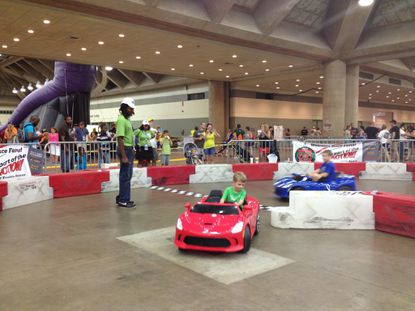 Inside the Family Fun Zone, part of family friendly events taking place as part of the Grand Prix of Baltimore.
