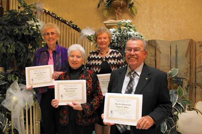 Maryland Senior Citizens Hall of Fame inductees pictured are, from left: back -- Frances Kane and Hazel Rectanus; front -- Ellen Constantine and Donald Champ.