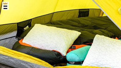 If you're concerned your head will slip off the pillow at night, consider a small, contoured camping pillow to keep your head cradled in place.
