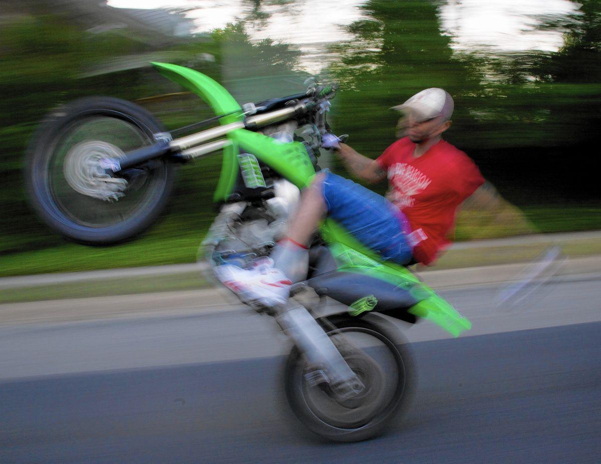 Mens T-Shirt Off Road Rider Over Under Through Motocross