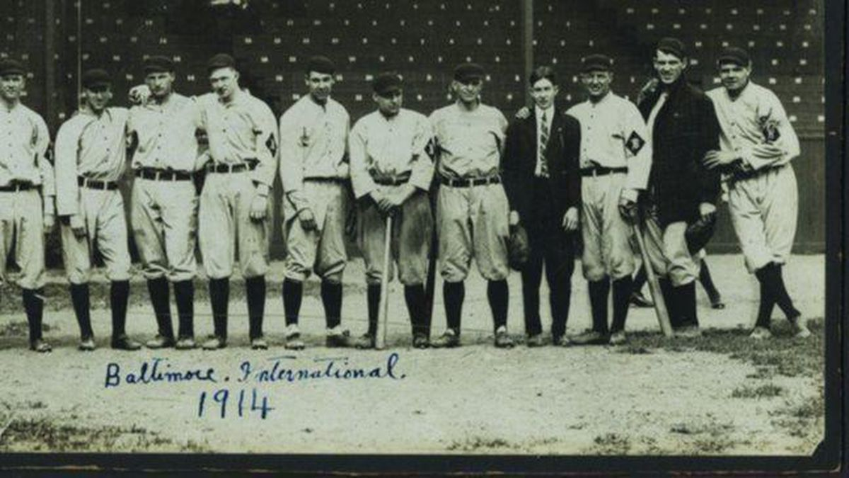 quality design 369e8 73810 Team photo of 1914 Orioles, featuring Babe Ruth, sells for ...
