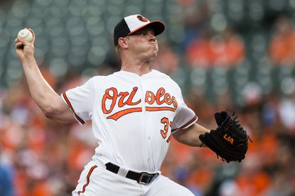 Orioles starting pitcher Dylan Bundy throws a pitch in the first inning Tuesday night against the Kansas City Royals.