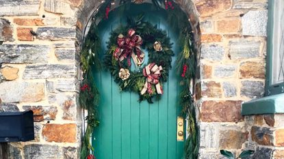 """Jeff and Alix Rodman were the winners of the """"Doorway Design"""" category in Stoneleigh's holiday decorating competition."""