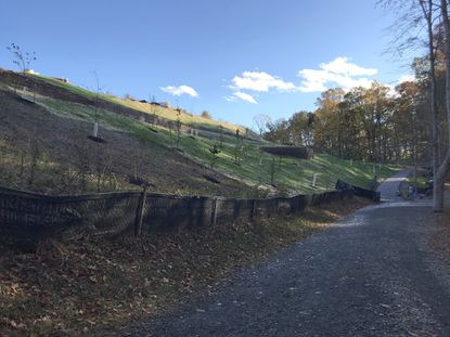Most of the work on the connection between the Gateway condominiums and the Ma & Pa Trail in Bel Air is complete. Some trees that were removed still need to be replaced once additional storm drain work is finished.