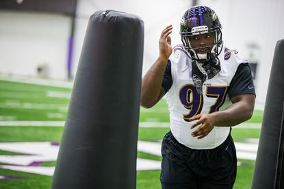 Florida State's Timmy Jernigan participates in drills during rookie minicamp.