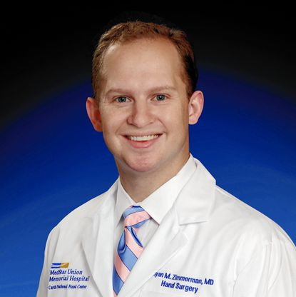 Dr. Ryan M. Zimmerman is a a hand, shoulder and elbow surgeon at the Curtis National Hand Center at MedStar Union Memorial Hospital. - Original Credit:
