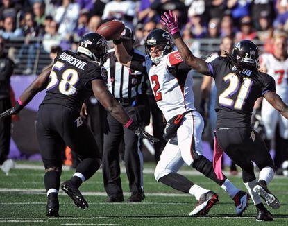 Ravens outside linebacker Elvis Dumervil tied for second in the NFL in sacks
