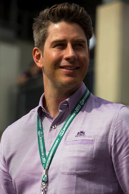 Arie Luyendyk Jr. attends the 2015 Indy 500 at Indianapolis Motorspeedway on May 24, 2015 in Indianapolis, Indiana.