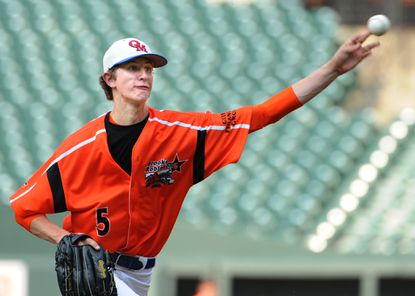 Old Mill's Josh Hader, the Orioles' 19th-round draft pick, was named the South's most valuable pitcher of the Brooks Robinson All-Star Game at Camden Yards.