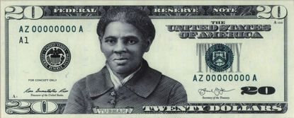 An image obtained by the New York Times shows a conceptual design, produced by the Bureau of Engraving and Printing in 2016, of a new $20 note featuring Harriet Tubman. President Joe Biden's Treasury Department is studying ways to speed up the process of adding Tubman's portrait to the front of the $20 bill after the Trump administration allowed the Obama-era initiative to lapse, Jen Psaki, the White House press secretary, said on Monday, Jan. 25, 2021.