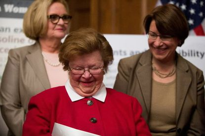 Sen. Barbara A. Mikulski at a press conference earlier this month on Capitol Hill.