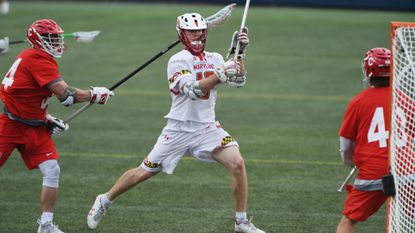 Sophomore attackman Jared Bernhardt, center, is a key returner for a Maryland men's lacrosse team that graduated two starting midfielders in Tewaaraton Award finalist Connor Kelly and Tim Rotanz.