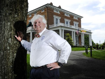 Taneytown Mayor James L. McCarron Jr., photographed in front of Antrim 1844 Country House Hotel in May 2016, is running for re-election in 2019.