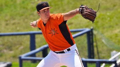 Orioles pitching prospect Cody Sedlock with the High-A Frederick Keys.