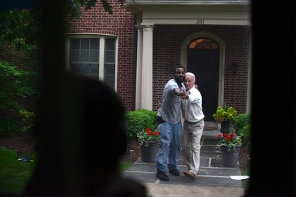 """Dominic Gladden (left) and Michael Salconi in """"Promenade: Baltimore"""""""
