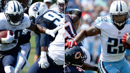 At left, Tennessee Titans running back DeMarco Murray and Derrick Henry will be marked men for a Ravens run defense that still ranks No. 30 in the NFL.