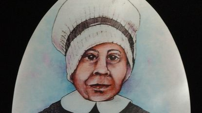 A drawing of Mother Mary Elizabeth Lange, 1784-1882, foundress of the Oblate Sisters of Providence at the order's high school, St. Frances Academy in East Baltimore.