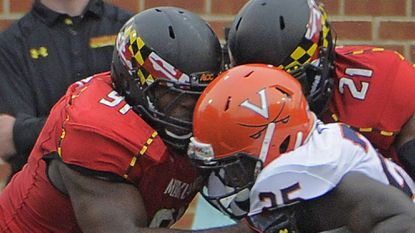 Terps defensive end Keith Bowers (left) will be honored during Senior Day.