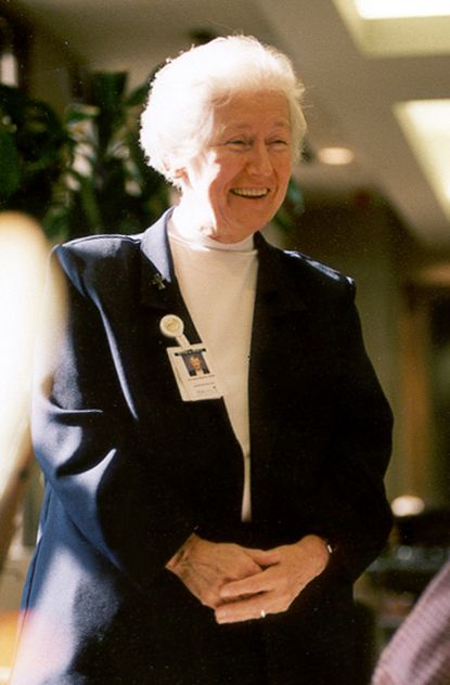 Sister Mary Annella Martin was head of Mercy Hospital School of Nursing from 1970 to 1974. After the hospital closed its nursing school, she was director of primary care services, director of ambulatory services and administrative assistant to the president.