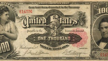 A $1,000 bill sold for $1.92 million at a Baltimore auction.
