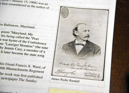 """A photo of James Ryder Randall who wrote the words of of """"Maryland, My Maryland,"""" the current state song."""