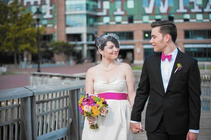 Sam Saunders and Tom Consroe's wedding day marked exactly six years since they became a couple.