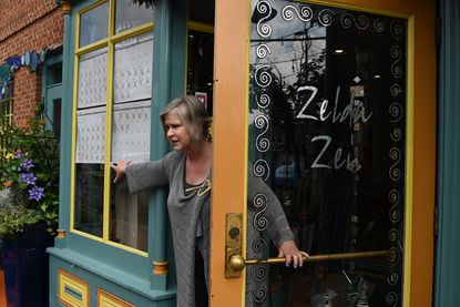 Beth Hawks, owner of Zelda Zen in Fells Point, is upset that Baltimore City hasn't lifted its restrictions on in-person retail.