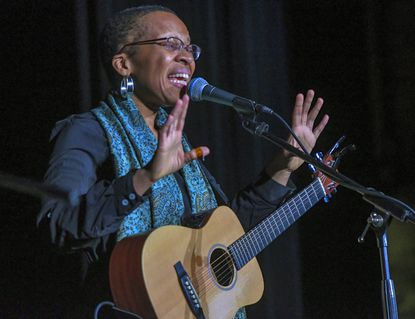 Carroll Community College and the Carroll Arts Center sponsor a musical tribute to the legacy of Dr. Martin Luther King, Jr. performed by artist Lea, that features songs of the Civil Rights Movement Monday afternoon in Westminster.
