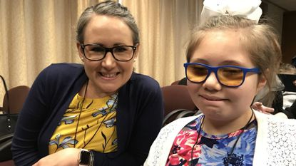 Katie Lowell and her daughter Emma came to GBMC from their home in South Carolina for the announcement of a new center to treat Alstrom Syndrome.