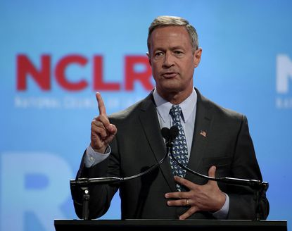 Democratic presidential candidate, former Maryland Gov. Martin O'Malley, speaks at a the National Council of La Raza Annual Conference, Monday, July 13, 2015, in Kansas City, Mo. (AP Photo/Charlie Riedel) ORG XMIT: MOCR111