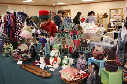 Many vendors display a variety of handmade crafts, gifts and decorations at Ebenezer United Methodist Church's Holly Mart in 2018 at the Winfield fire hall. - Original Credit: