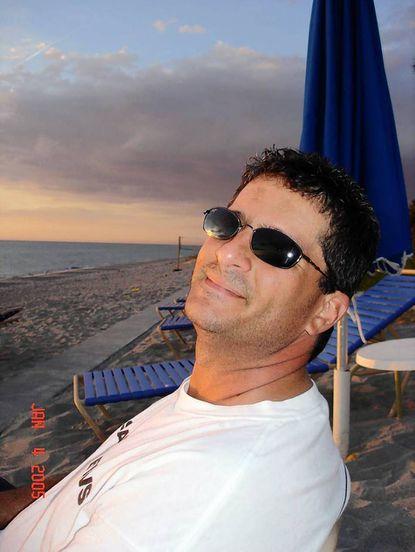 Meteorologist Tony Pann on the beach in Longboat Key, Florida.