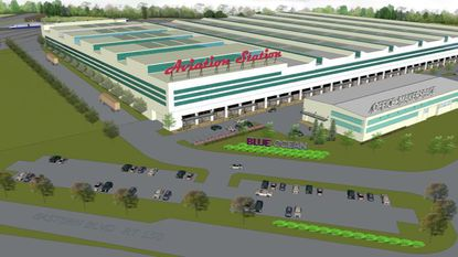 A rendering of Aviation Station, Blue Ocean's plan to repurpose the massive former Martin Aircraft plant in Middle River.